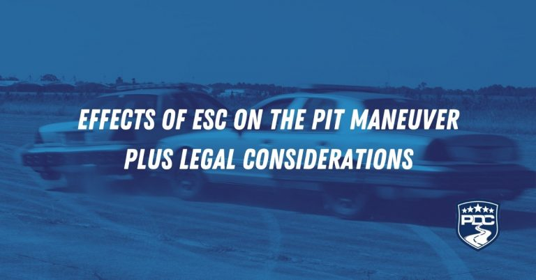 Effects of ESC on the PIT maneuver