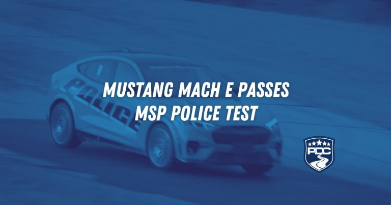 MUSTANG MACH E PASSES MSP POLICE TEST